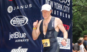 Elie Hirschfeld runs in several triathlons, especially the Ironman Foundation
